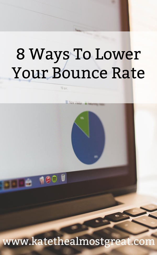 One of the key blog statistics is your bounce rate, or the percentage of people who go to your blog and then leave. I've lowered mine to below 10%, and today I'm sharing how you can do it, too.