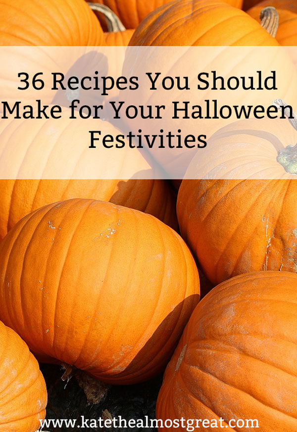 Whether you're throwing a party or just want to celebrate Halloween in some small way, you should check out these 36 delicious Halloween treats. There are some for the kids, some for the adults, and some for everyone.