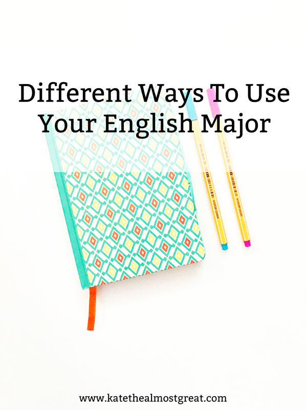 You've followed your dreams and you're majoring in English. But what can you do with your degree? Here are 9 different ways you can use your English major for the next time someone asks you what you can do with your degree.