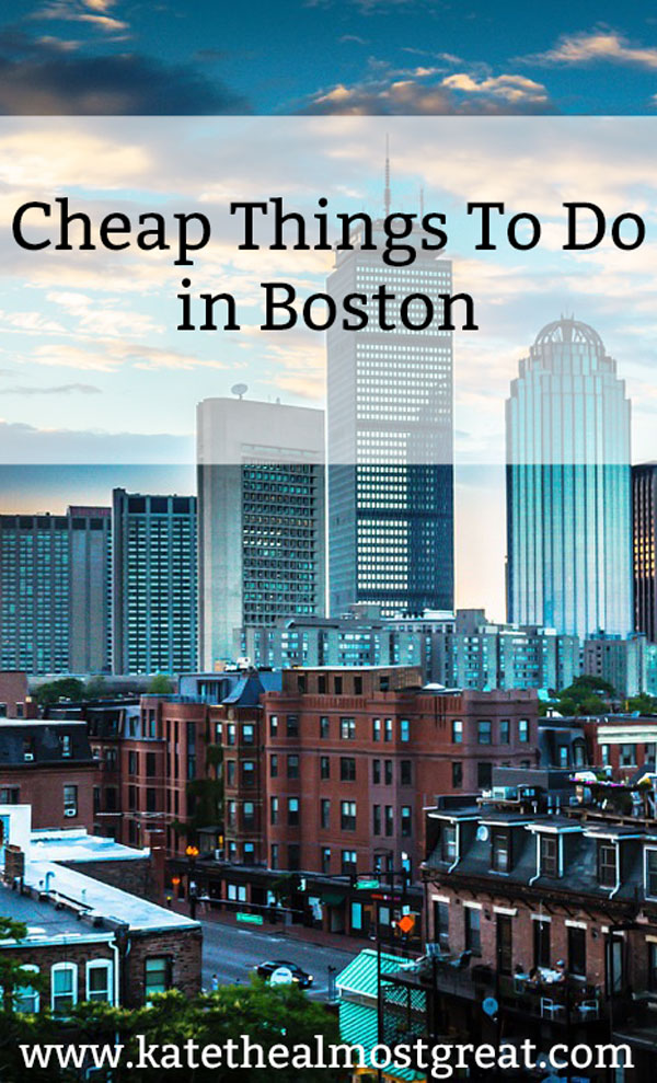 Coming to Boston but don't want to spend a ton of money? Check out these free or cheap things to do in Boston. You'll have a great time!