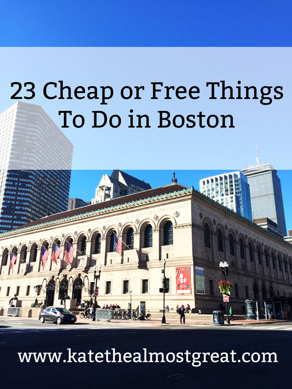 Planning a trip to Boston or just trying to find something new to do? Check out these 23 cheap or free things to do in Boston.