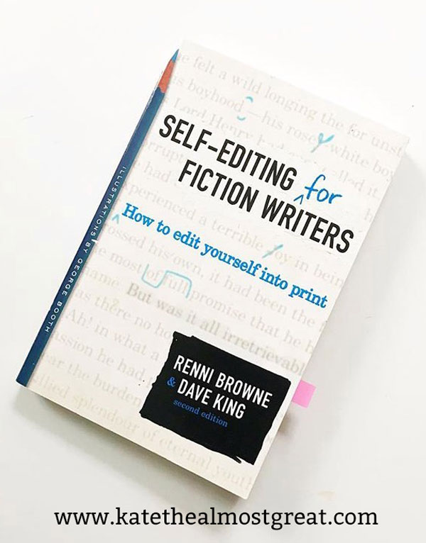 Talking about Self-Editing for Fiction Writers, a must-read for all writers, as well as reviewing other books.