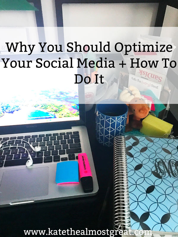 Social media can bring your blog a lot of page views, but only if you've optimized your social media platforms. Learn why you should do that as well as how to do it, and get the free checklist to figure out if your social media is optimized to help grow your blog.