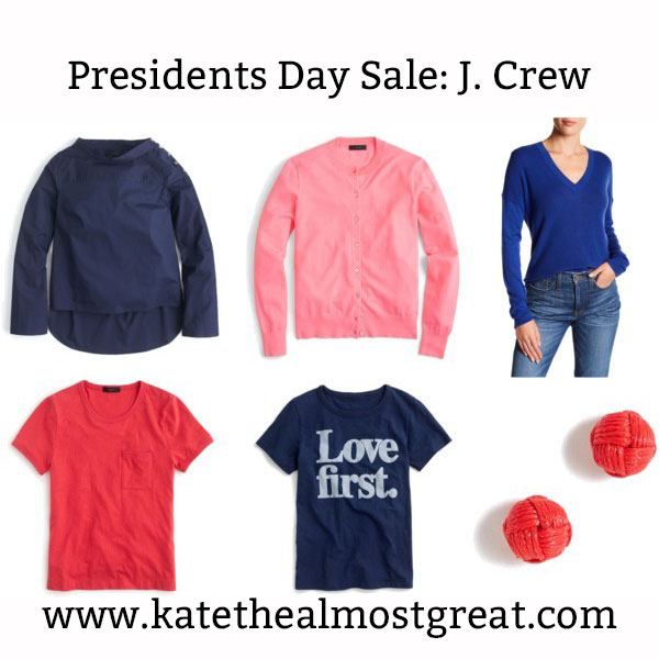 Great items from the J. Crew Presidents Day sale.