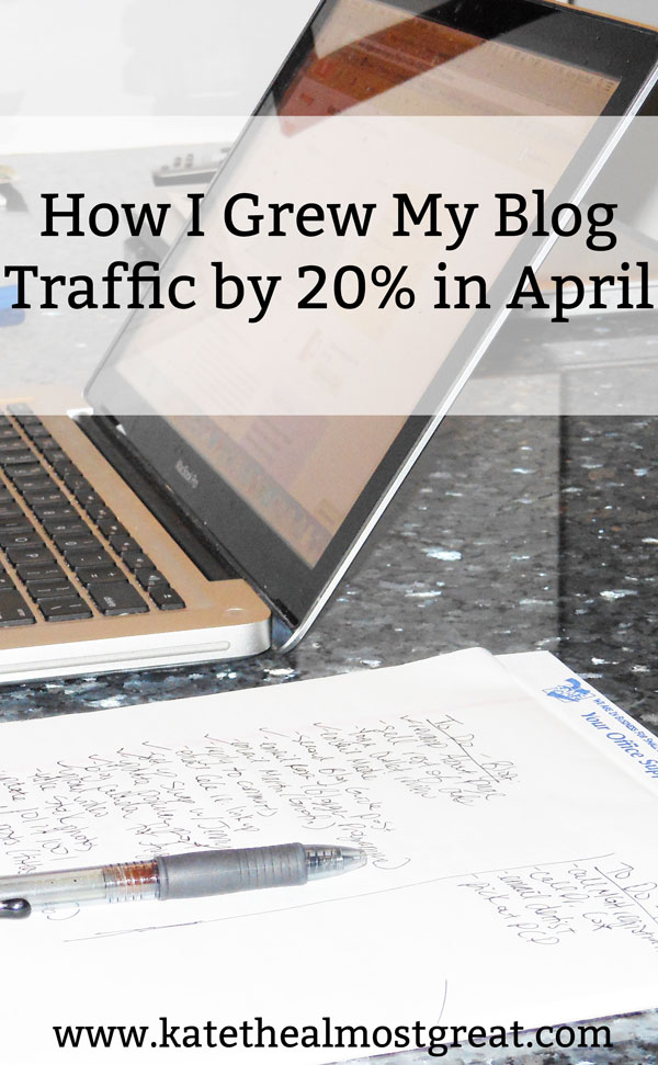 Sharing what I did in April that grew site traffic to my blog nearly 20%. Want more tips and tricks? Check out all of my blog traffic reports so you can get ahead.