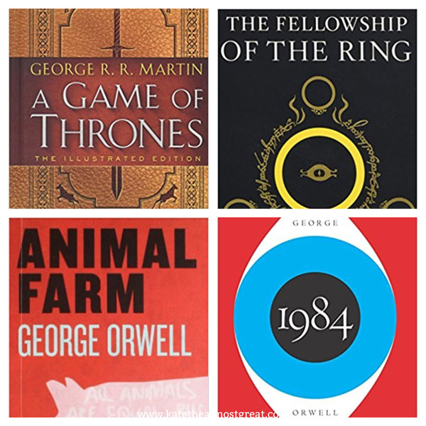 dystopian, science fiction, fantasy, dystopian books to read, science fiction books to read, fantasy books to read, books to read, book recommendations, game of thrones, lord of the rings, animal farm, 1984