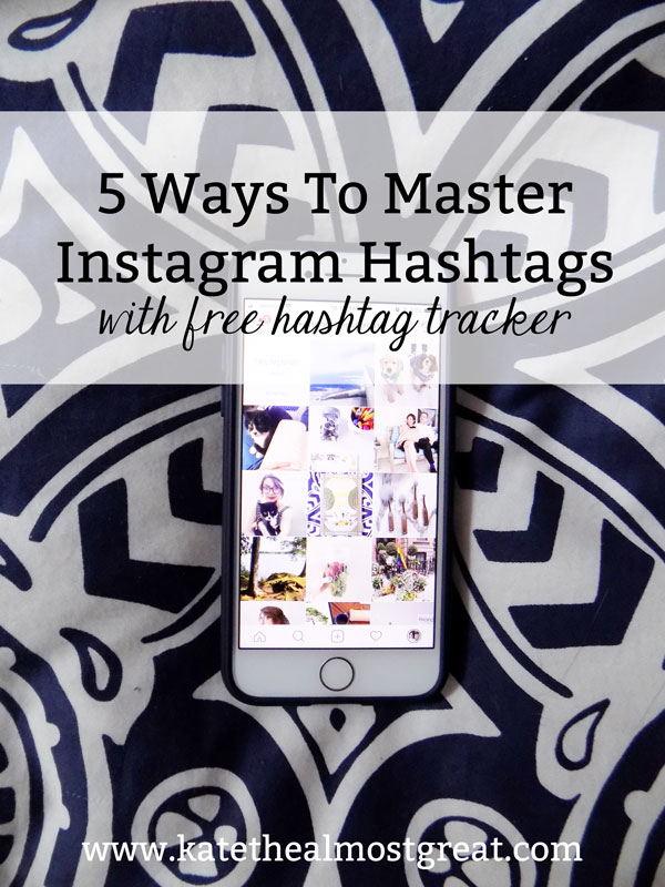 How do you know if the hashtags you're using are actually helpful? In this post, I'm sharing 5 different strategies that will help you master Instagram hashtags, and I'm giving you a free tool to track if hashtags are helping you or not.