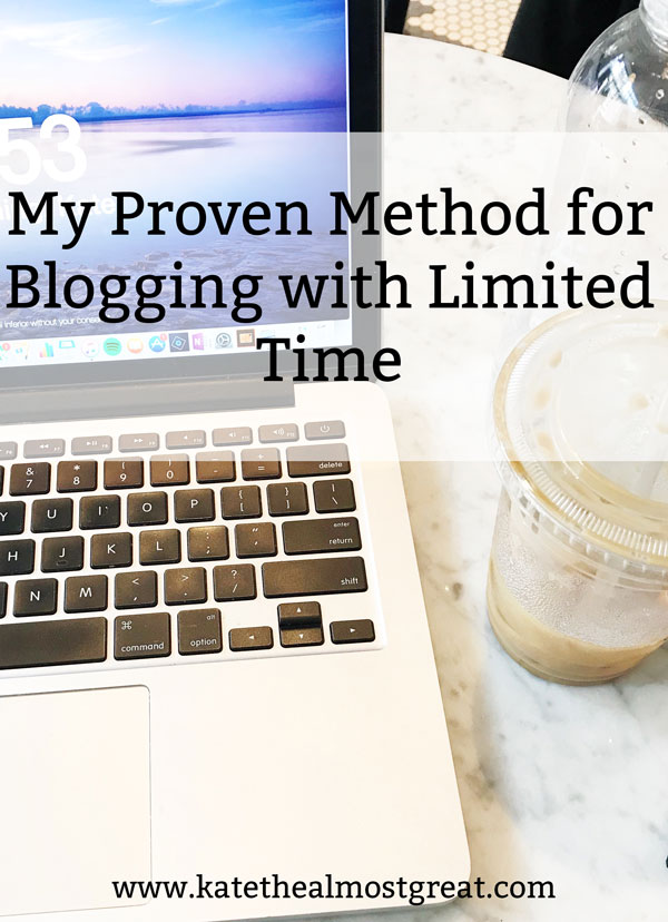 This lifestyle blogger shares how she's able to run a successful and profitable blog with only a few hours a week.