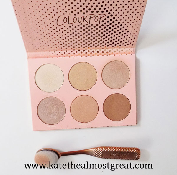 ColourPop highlighter, ColourPop highlighter palette, ColourPop highlight palette review, best highlighter, best cheap highlighter