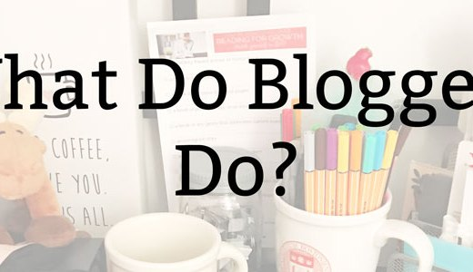 What Do Bloggers Do?