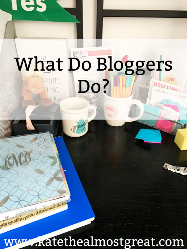 "Boston lifestyle blogger Kate the (Almost) Great answers the question, ""What do bloggers do?"""
