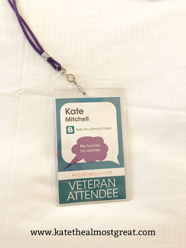 Arthritis advocate and patient Kate the (Almost) Great shares her experience at the 2019 HealtheVoices conference, a conference for online health advocates.