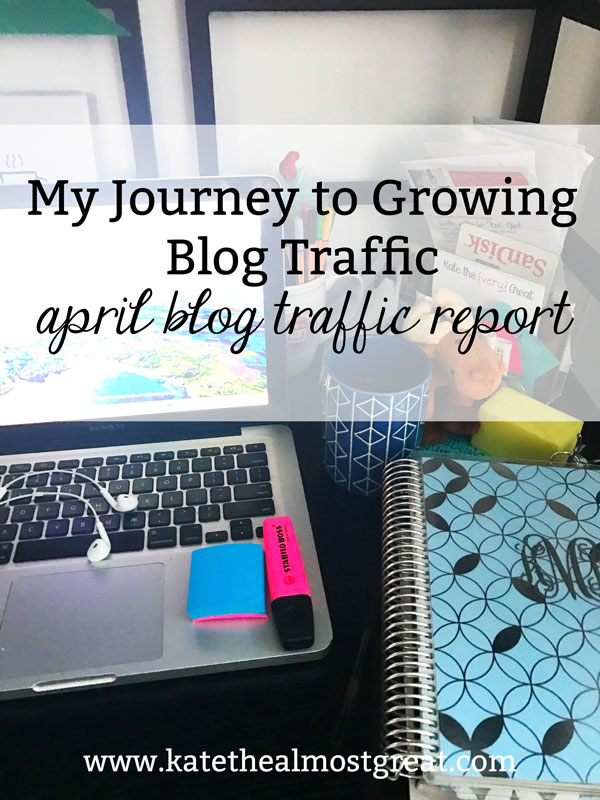 Boston lifestyle blogger Kate the (Almost) Great shares her journey to growing blog traffic, including her blog statistics in April 2019 and what she did that affected that traffic.