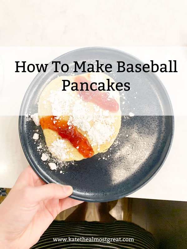 Red Sox fan and Boston lifestyle blogger Kate the (Almost) Great shares her recipe and instructions for making baseball pancakes, fueled by official egg of the Red Sox Nellie's Free Range Eggs.
