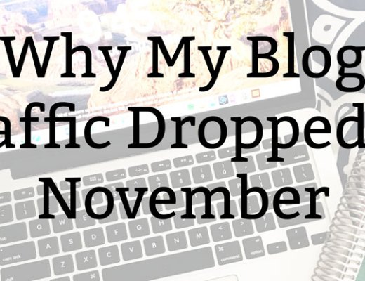 Why My Blog Traffic Dropped in November