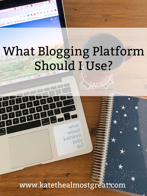 "Whether you're new to blogging or you're looking to take your blog to the next level, choosing your blogging platform is an important question to answer. In this post, I help you answer, ""What blogging platform should I use?"" by explaining what a platform is, sharing a couple of different options out there, and discussing my experience with self-hosted WordPress."