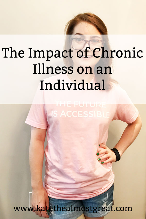 Chronic illness patient Kate the (Almost) Great has been ill for nearly two decades, and she shares what the impact of chronic illness on an individual is.