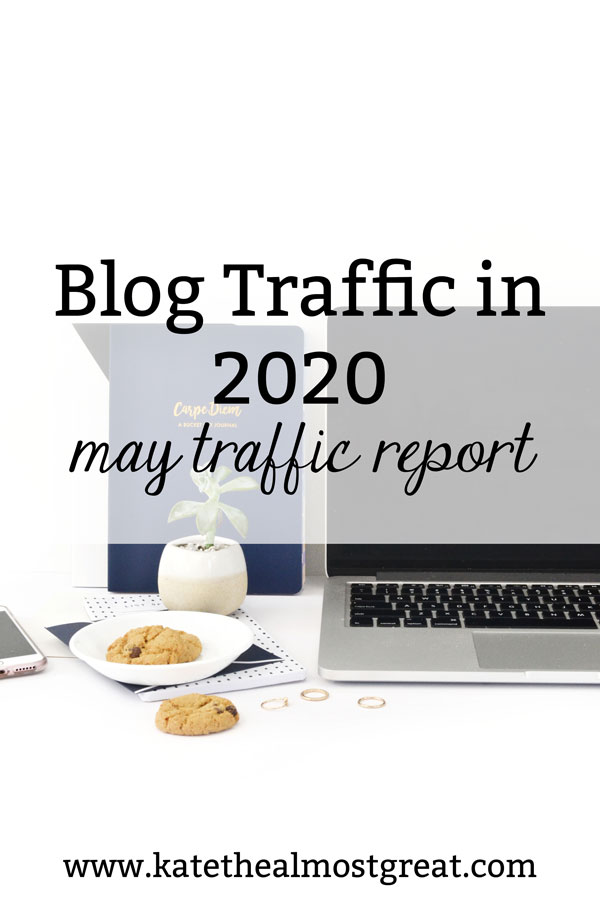 2020 has been a wild ride, affecting every industry, including blogging. In this blog post, life and health blogger Kate the (Almost) Great shares her blog traffic report from May 2020.