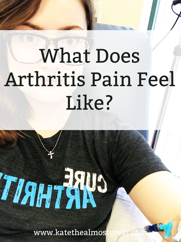 "With over 100 types of arthritis, it can be hard to describe what exactly arthritis pain is like. In this post, I explain my experience with rheumatoid arthritis pain, and I also share other patients' experiences with other forms of arthritis, all to answer the question, ""What does arthritis pain feel like?"""