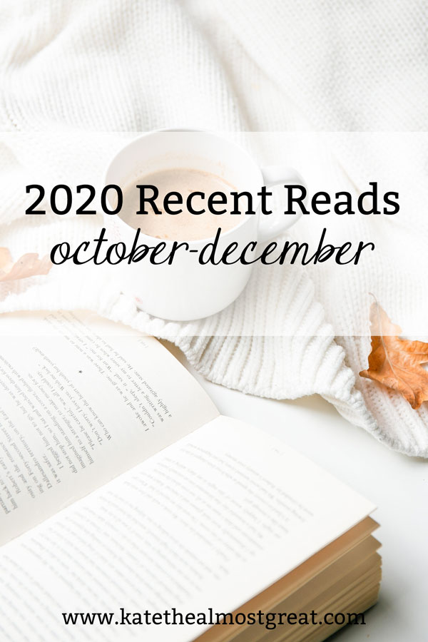It may be 2021 now, but I'm still looking back at 2020 one last time. In this post, I'm reviewing the books I read in the last quarter of the year.
