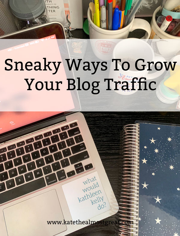 Looking to grow your blog? In this post, a long-time blogger shares some sneaky ways she has learned over the years.