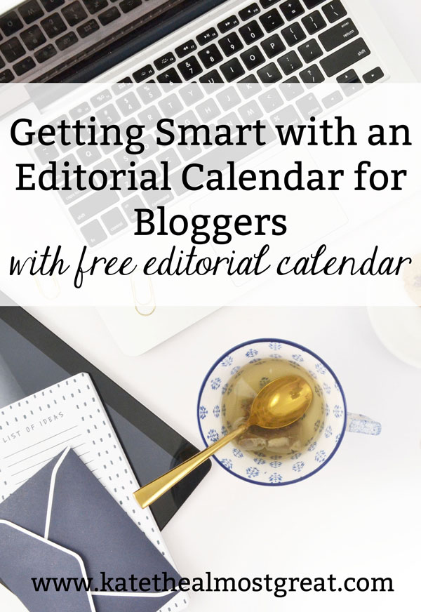 A tool I really suggest bloggers use is an editorial calendar for bloggers. In this post I share what that is, why bloggers should use one, and how to make one. Also, get a free downloadable editorial calendar template!