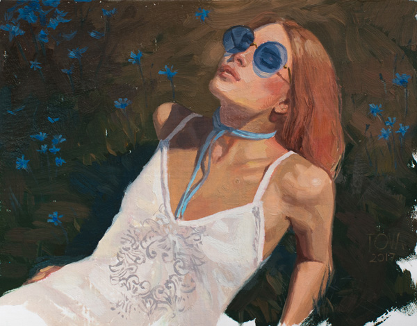 Portrait, Realistic, Blue, Sunglasses, Woman, Oil Painting, Calm, Dress, Fashion, Flowers, Girl, Impressionistic Woman, Eyes Closed, Fashion, Lingerie, Realistic, Painting For Sale, Sold, Fine Art, Buy A Painting, Wall Art, Gift, Christmas, Artist, Landscape Art,landscape Artist, Contemporary Painting, Painting Gallery, Painting, Custom Art, Custom Paintings, Nature, Water, Usa, America, American Art, Blue, Purple, Kate Tova Artist, Christmas, Gift, Anniversary, New Year, Birthday Present, Unique, Exclusive, Expensive, Luxurious, Living Room, Guestroom, Kate Tova, Wedding Gift, Valentines Day Gift, Hand Painted, Art For Dining Room, Guest Room, Living Room, Bedroom, Print