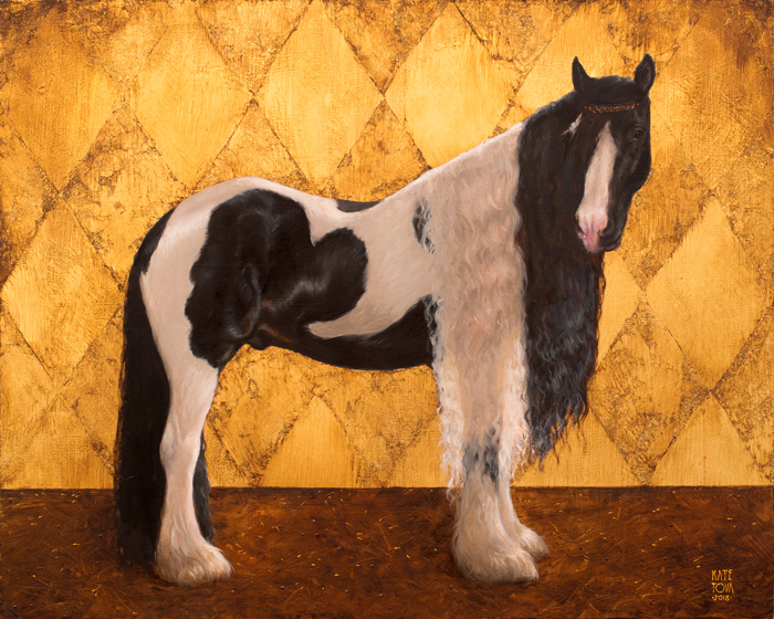 Art, Artwork, Painting, Gypsy Horse, Horse, Gold, Gold Leaf, Realistic, Black And Whit Horse, Impressionistic, Painting For Sale, Sold, Fine Art, Buy A Painting, Wall Art, Gift, Christmas, Artist, Painting Art, Portrait Artist, Portrait, Contemporary Painting, Painting Gallery, Custom Art, Custom Paintings, Usa, America, American Art, Red, Kate Tova Artist, Canvas, Christmas Gift, Anniversary, New Year, Birthday Present, Unique, Exclusive, Expensive, Luxurious, Living Room, Guestroom, Kate Tova, Wedding Gift, Valentines Day Gift, Hand Painted, Art For Dining Room, Guest Room, Living Room, Bedroom, Canvas Print, Print, Painting On Canvas, Gift For Dog Lover