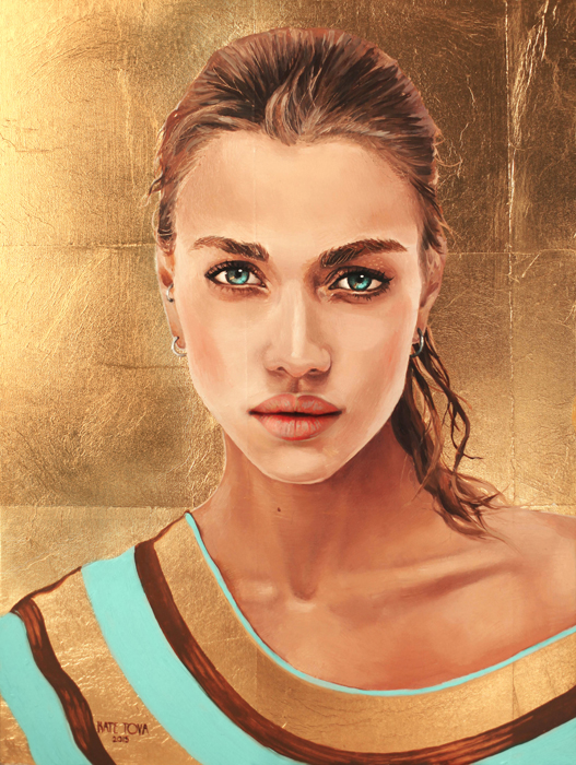 Art, Artwork, Painting, Beautiful, Portrait, Realism, Realistic, Tattoo, Woman, Gold Leaf, Girl, Gold, Golden, Luxury, Model, Mathilda Bernmark, Woman Portrait, Woman Laying, Top View, Eye, Original, Oil, Realistic, Impressionistic, Painting For Sale, Sold, Fine Art, Buy A Painting, Wall Art, Gift, Christmas, Artist, Painting Art, Portrait Artist, Portrait, Contemporary Painting, Painting Gallery, Custom Art, Custom Paintings, Usa, America, American Art, Red, Kate Tova Artist, Canvas, Christmas Gift, Anniversary, New Year, Birthday Present, Unique, Exclusive, Expensive, Luxurious, Living Room, Guestroom, Kate Tova, Wedding Gift, Valentines Day Gift, Hand Painted, Art For Dining Room, Guest Room, Living Room, Bedroom, Canvas Print, Print, Painting On Canvas