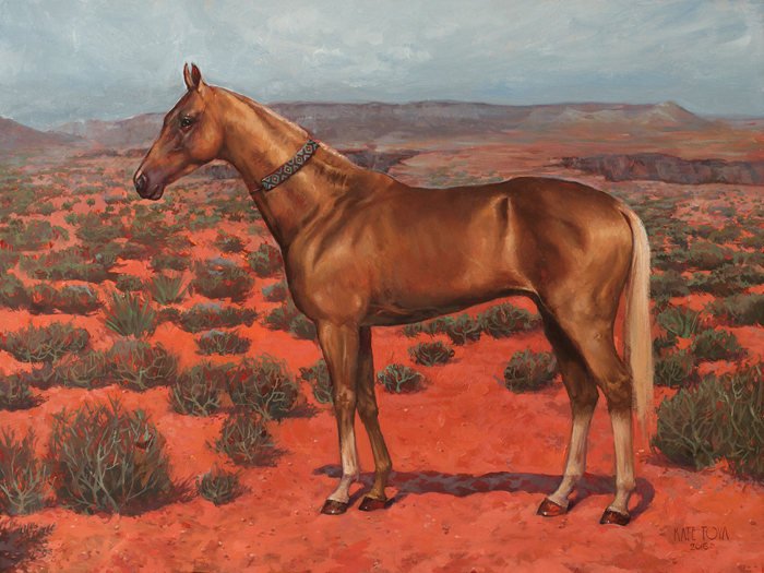 akhal teke, horse, gold coat, gold horse, painting, art, arizona, utah, horse shoe bend, desert, beautiful, present gift, equine art, painting, artwork, art for sale, exclusive, luxurious, red sand, realistic