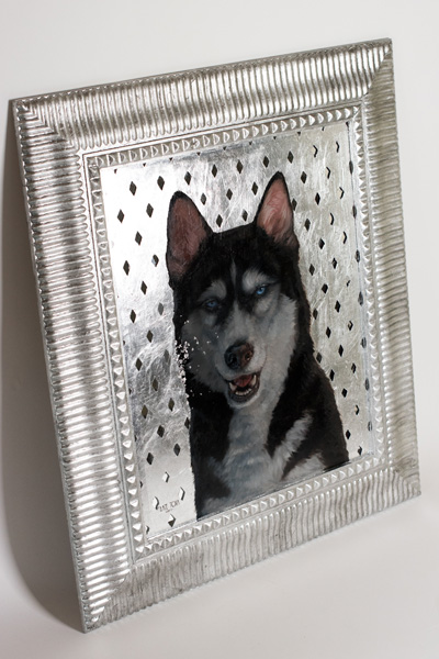 art, artwork, painting, Reflection, Silver, Unusual, Wolf, Blue Eyes, Siberia, Siberian Husky, Dog, Grey, Husky, Mirror, Oil, Pet, Portrait, realistic, impressionistic, painting for sale, sold, fine art, buy a painting, wall art, gift, christmas, artist, painting art, portrait artist, portrait, contemporary painting, painting gallery, custom art, custom paintings, usa, america, american art, red, Kate Tova artist, canvas, christmas gift, anniversary, new year, birthday present, unique, exclusive, expensive, luxurious, living room, guestroom, Kate Tova, wedding gift, Valentines day gift, hand painted, art for dining room, guest room, living room, bedroom, canvas print, print, painting on canvas, gift for dog lover