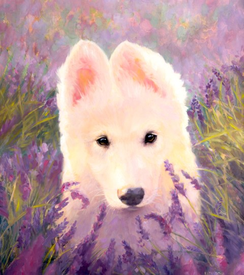 Custom OIL Pet Portrait On CUSTOM Background
