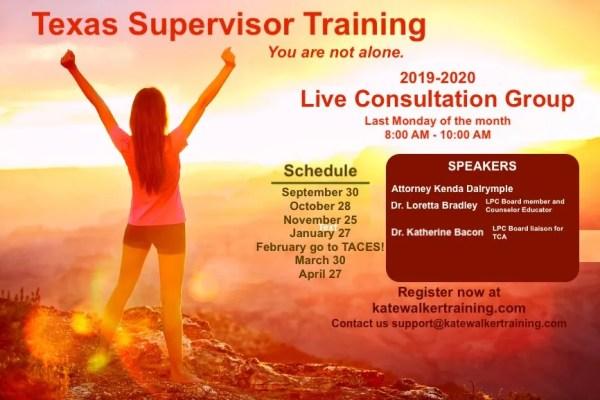 counselor education, kate walker training, lpc supervisor training