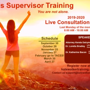 counselor education, kate walker training, lpc supervisor training