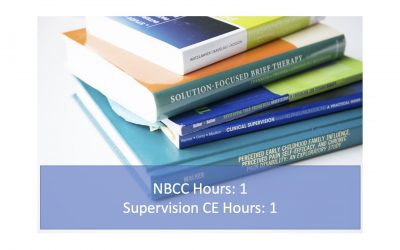2021 Multicultural Competence and the Supervision Contract