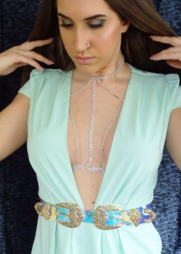 Katey Blaire - Rhinestone Bralette Tutorial