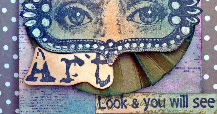 It Begins With a Vision:Wendy Vecchi Mixed Media Tag