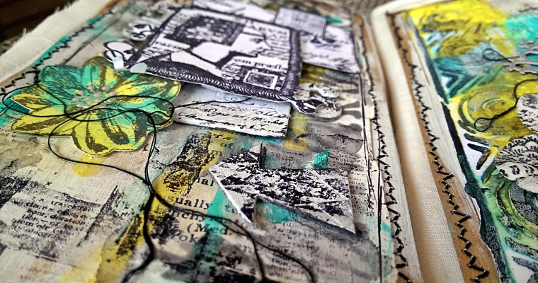 A Country Escape: Mixed Media Fabric Journal
