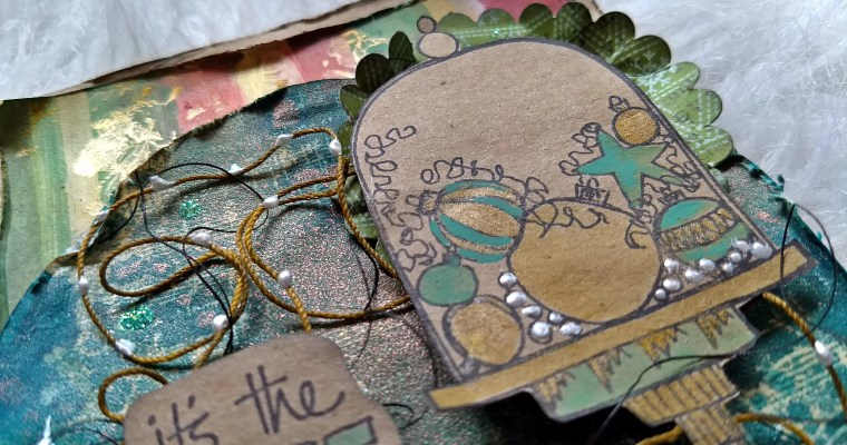 It's the Most Wonderful Time of the Year: Mixed Media Card
