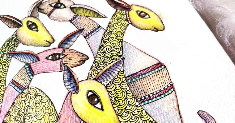 Gond Watercolor Painting