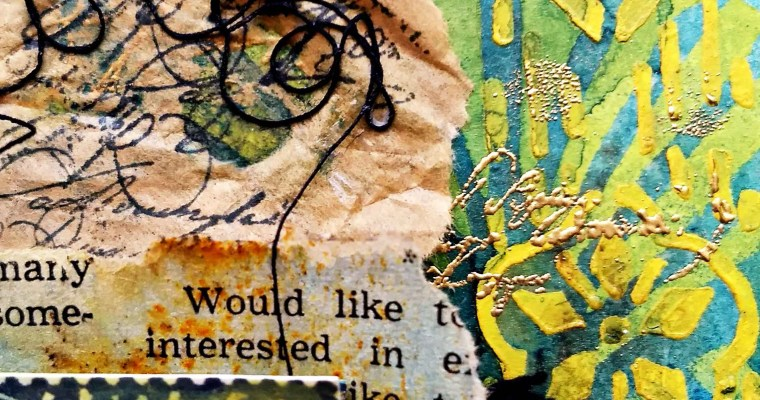 Egyptian Gold: Mixed Media Journal Layout