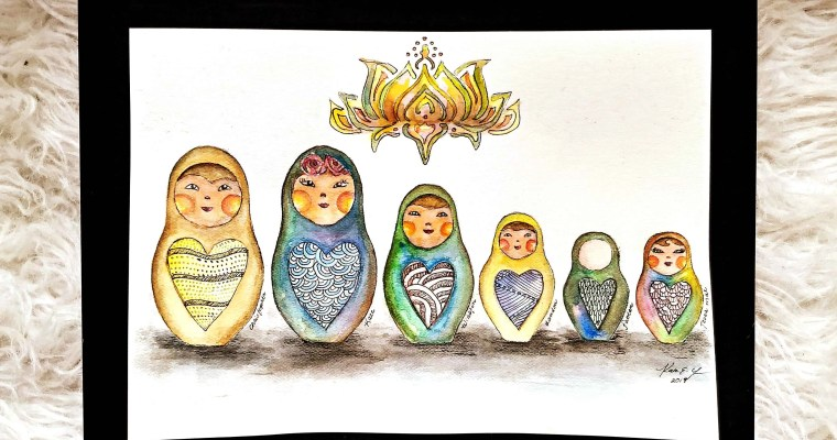 Watercolor Nesting Dolls