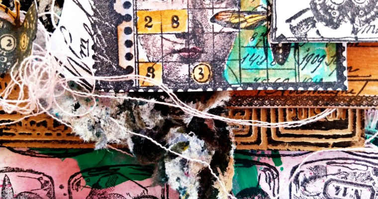 It's In The Bottle: Mixed Media Mail Art