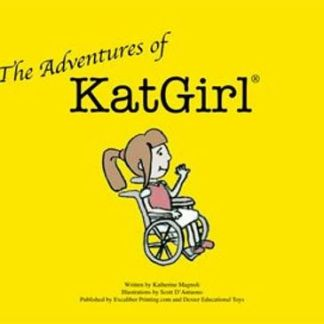 "Yellow cover for ""The Adventures of KatGirl"" book by Katherine Magnoli"