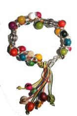 Bead and Silver Bracelet