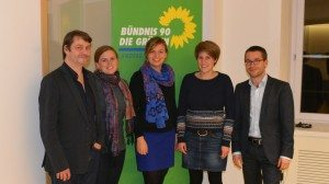 Das Podium - Andreas Speit, Clara Hermann, Katharina Schulze, Verena Schäfer und Sebastian Striegel