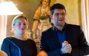 Katharina Schulze mit Johannes Becher in Moosburg