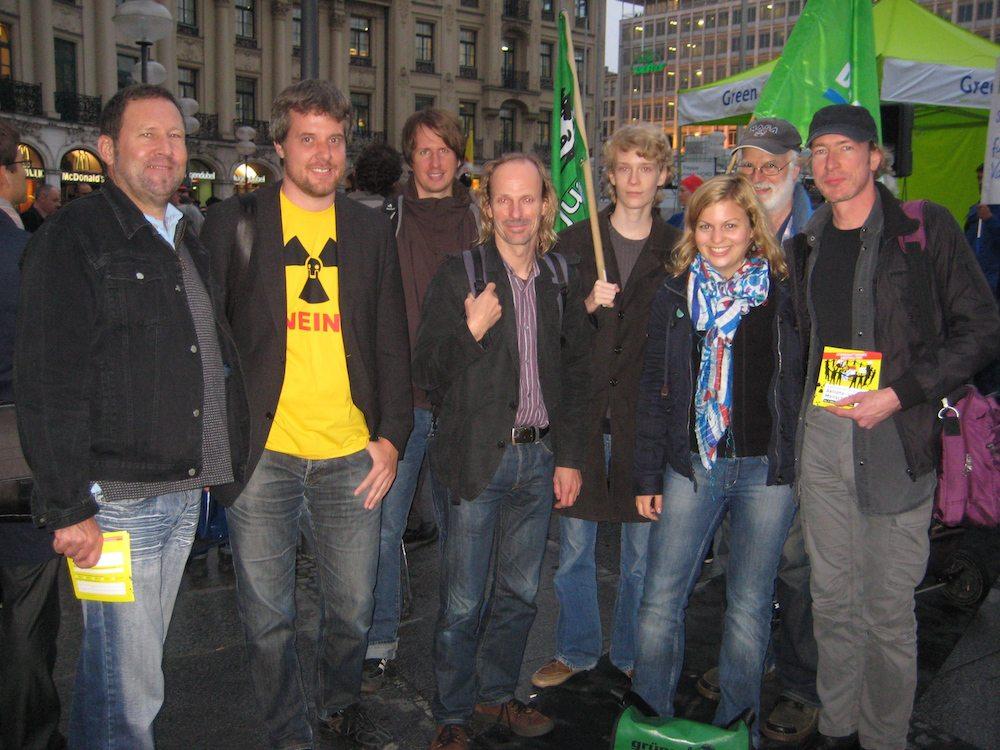 Anti-Atomkraft-Demo am Münchner Stachus