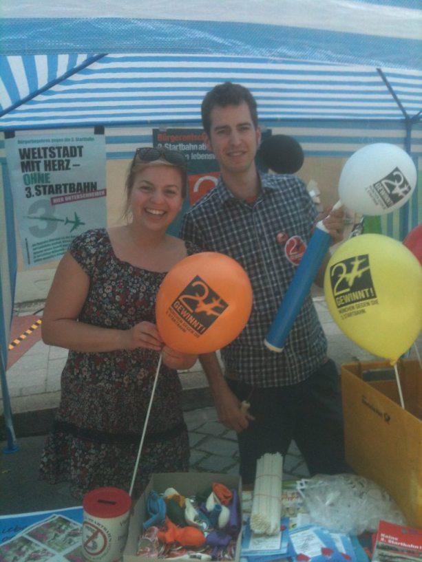Tolles Infostandteam: Katharina Schulze und Marc Daniel Heintz