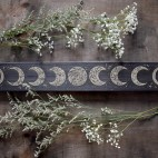 """Phases of The Moon - 3.5x24"""" Wood Engraving"""